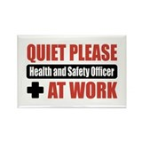 Health and Safety Officer Work Rectangle Magnet (1