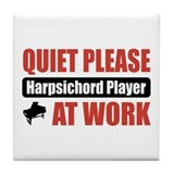 Harpsichord Player Work Tile Coaster