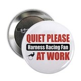"Harness Racing Fan Work 2.25"" Button"