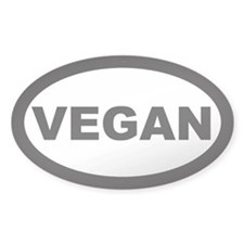 Vegan Car Oval Decal