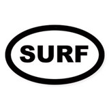 Surf Car Oval  Aufkleber