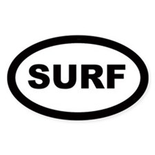 Surf Car Oval Decal