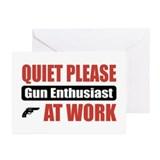 Gun Enthusiast Work Greeting Cards (Pk of 10)