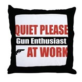 Gun Enthusiast Work Throw Pillow