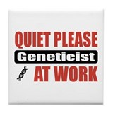 Geneticist Work Tile Coaster