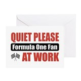 Formula One Fan Work Greeting Card
