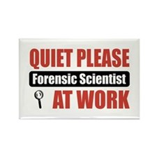 Forensic Scientist Work Rectangle Magnet