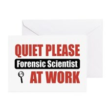 Forensic Scientist Work Greeting Cards (Pk of 10)