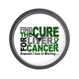 Find The Cure 1 LIVER CANCER Wall Clock