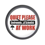 Environmental Scientist Work Wall Clock