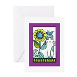 "BIRD BRAIN No. 6... ""Purrfect Day"" Card"