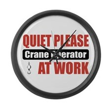 Crane Operator Work Large Wall Clock