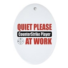 CounterStrike Player Work Oval Ornament
