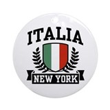 Italia New York Ornament (Round)