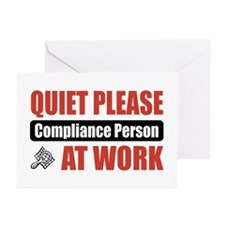 Compliance Person Work Greeting Cards (Pk of 20)