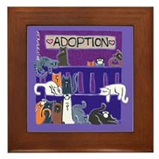 Adopt a Cat Framed Tile
