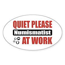 Numismatist Work Oval Sticker (50 pk)