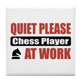 Chess Player Work Tile Coaster