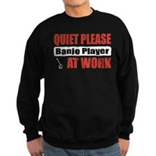 Banjo Player Work Sweatshirt