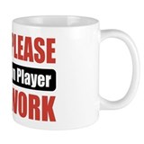 Badminton Player Work Small Mug
