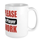 Badminton Player Work Tasse