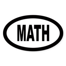 Math Oval Decal