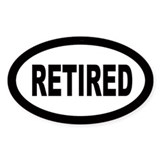 Retired Oval Decal