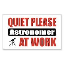Astronomer Work Rectangle Decal