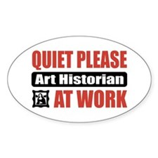 Art Historian Work Oval Decal