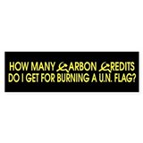 How many carbon credits do I Bumper Bumper Sticker