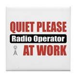 Radio Operator Work Tile Coaster