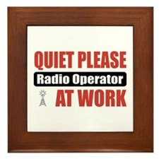 Radio Operator Work Framed Tile