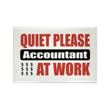 Accountant Work Rectangle Magnet