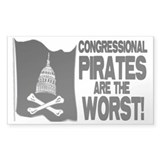 Congressional Pirates Rectangle Decal