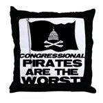 Congressional Pirates Throw Pillow