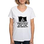 Congressional Pirates Women's V-Neck T-Shirt