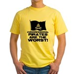 Congressional Pirates Yellow T-Shirt