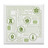 Chess Circuit Tile Coaster