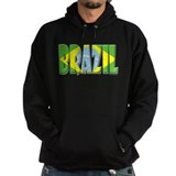 Word Art Flag of Brazil Hoody