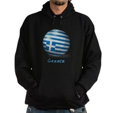 Greece Flag Soccer Ball Hoodie