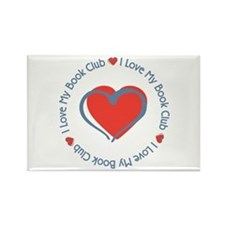I Love My Book Club Rectangle Magnet (10 pack)