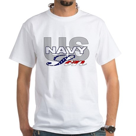 US Navy Son White T-Shirt