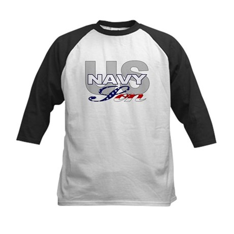 US Navy Son Kids Baseball Jersey
