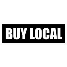 Buy Local Bumper Bumper Sticker