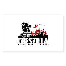 Chess Zilla 2 Rectangle Stickers