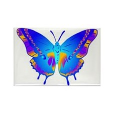 Blue Butterfly Rectangle Magnet (10 pack)