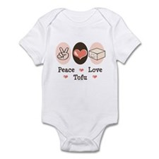 Cute Peace Love Tofu Infant Bodysuit