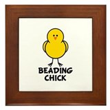 Beading Chick Framed Tile
