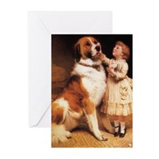 Trust by Charles Burton Barber Greeting Cards (Pk