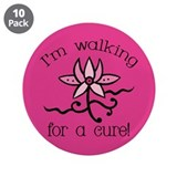 "Walking for a Breast Cancer Cure 3.5"" Button (10 p"